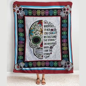 🖤Sugar Skull 'They Whispered To Her' Throw